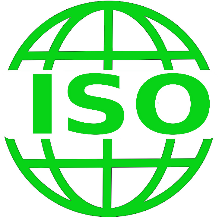 An image of the ISO standard logo, colored green.
